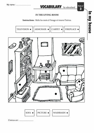 Poster + fascicule - Vocabulary : In my house