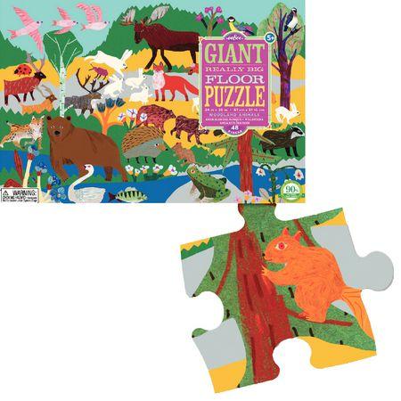 Puzzle géant les animaux de la forêt