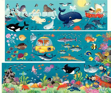Grandes histoires pour petites mains : Les animaux de l'océan
