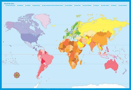Poster - Ma 1ère carte du monde