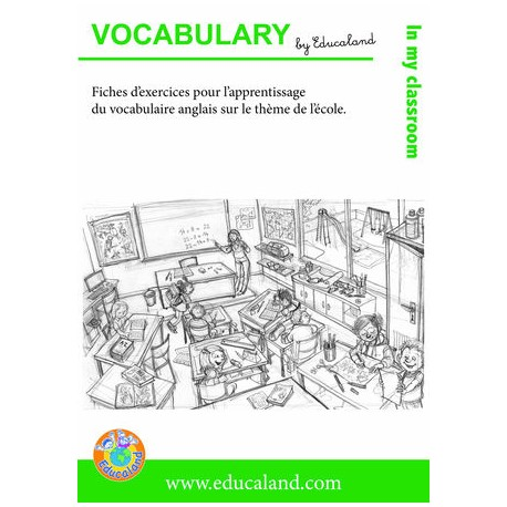 Poster + fascicule - Vocabulary : In my classroom