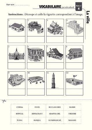 Poster + fascicule - Vocabulary : The town