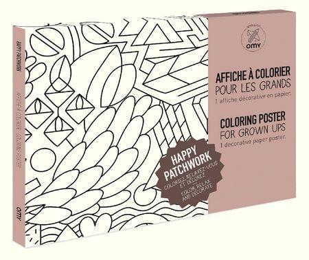 Coloriage géant - Patchwork