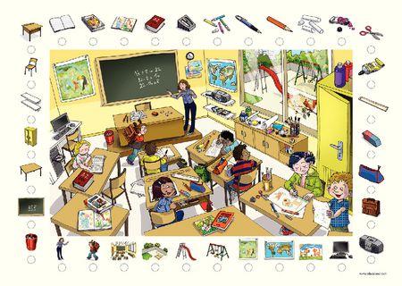 Poster + fascicule - Vocabulaire : L'école