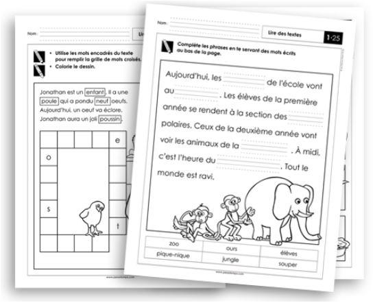 Français 1 - Apprendre à lire des textes - Fiches reproductibles
