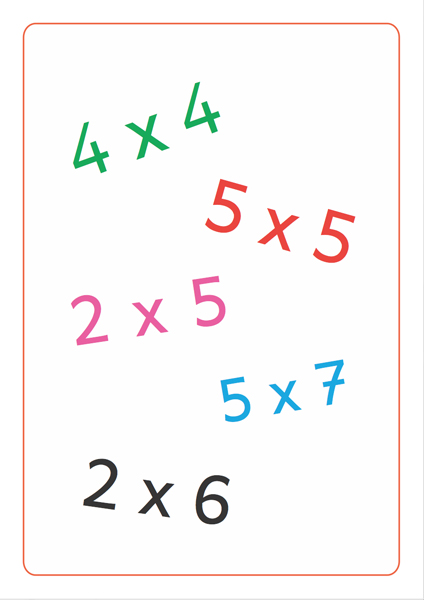 Tam Tam MultiMax 1 : les tables de x2 à x5